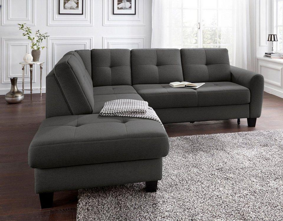 sit&more Ecksofa, mit Federkern, wahlweise mit Bettfunktion und Stauraum  online kaufen | OTTO