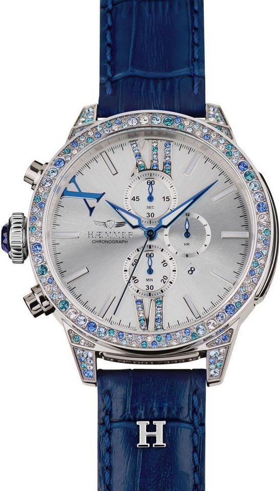 HAEMMER GERMANY Chronograph »HAEVEN, DSC-13« limitiert auf 333 Stück | Uhren > Chronographen | Blau | HAEMMER GERMANY