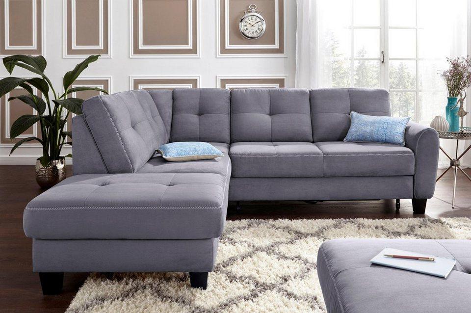 sit more polsterecke mit federkern wahlweise mit bettfunktion und stauraum online kaufen otto. Black Bedroom Furniture Sets. Home Design Ideas