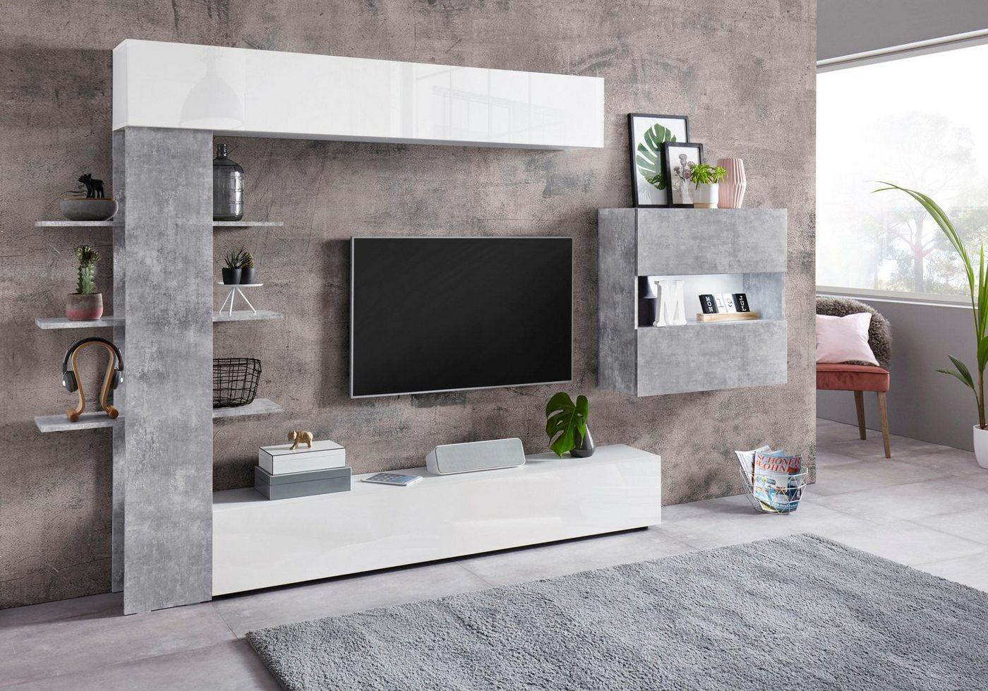 LC TV-Wand »Sorano« mit Hängeschrank (4-tlg.) - LC