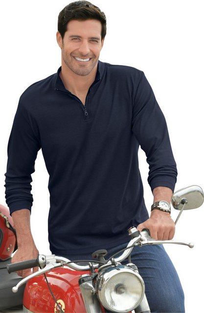 catamaran -  Langarm-Shirt mit Rippenstruktur allover