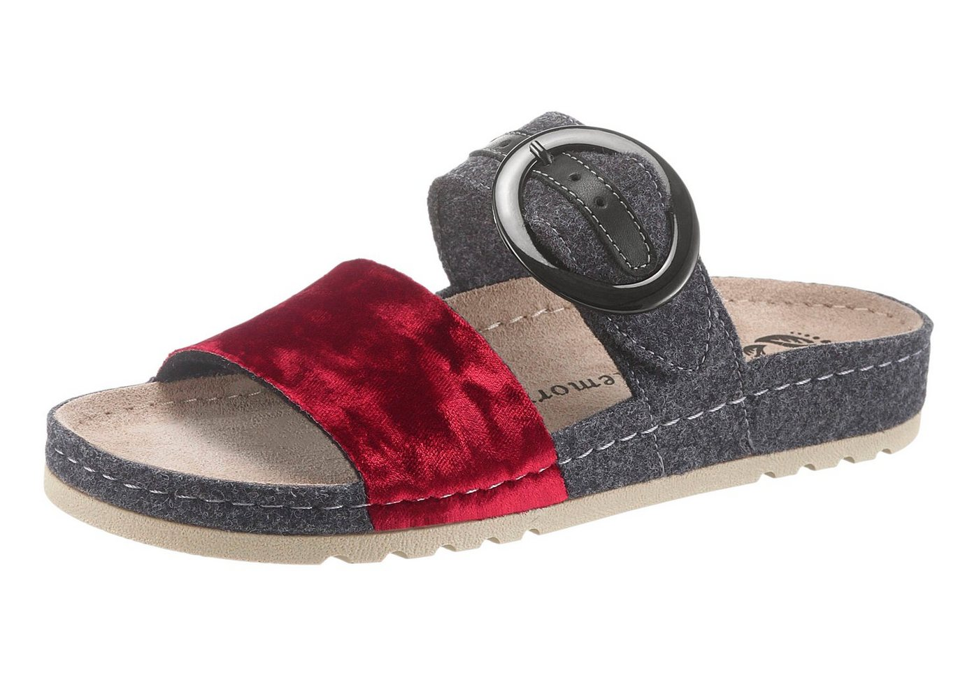 Mubb Pantolette mit komfortablem Gel Memory-Fußbett | Schuhe > Clogs & Pantoletten | Grau | Pu | MUBB