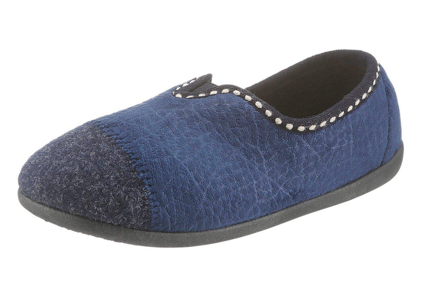 Casual Looks Hausschuh mit dämpfender Innensohle | Schuhe > Hausschuhe > Klassische Hausschuhe | Blau | Landgraf