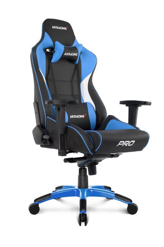 AKRACING Gaming Stuhl Master Pro blau Kunstlederbezug