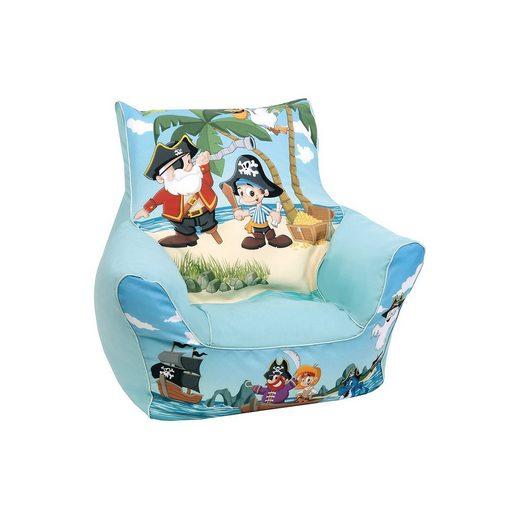 Knorrbaby Mini-Sitzsack Pirat Jack, blau
