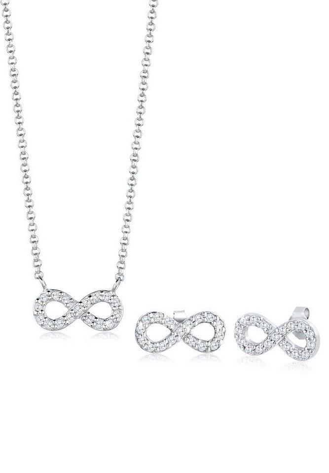 Elli Schmuckset »Infinity Zirkonia 925 Sterling Silber« | Schmuck > Schmucksets | Weiß | Elli