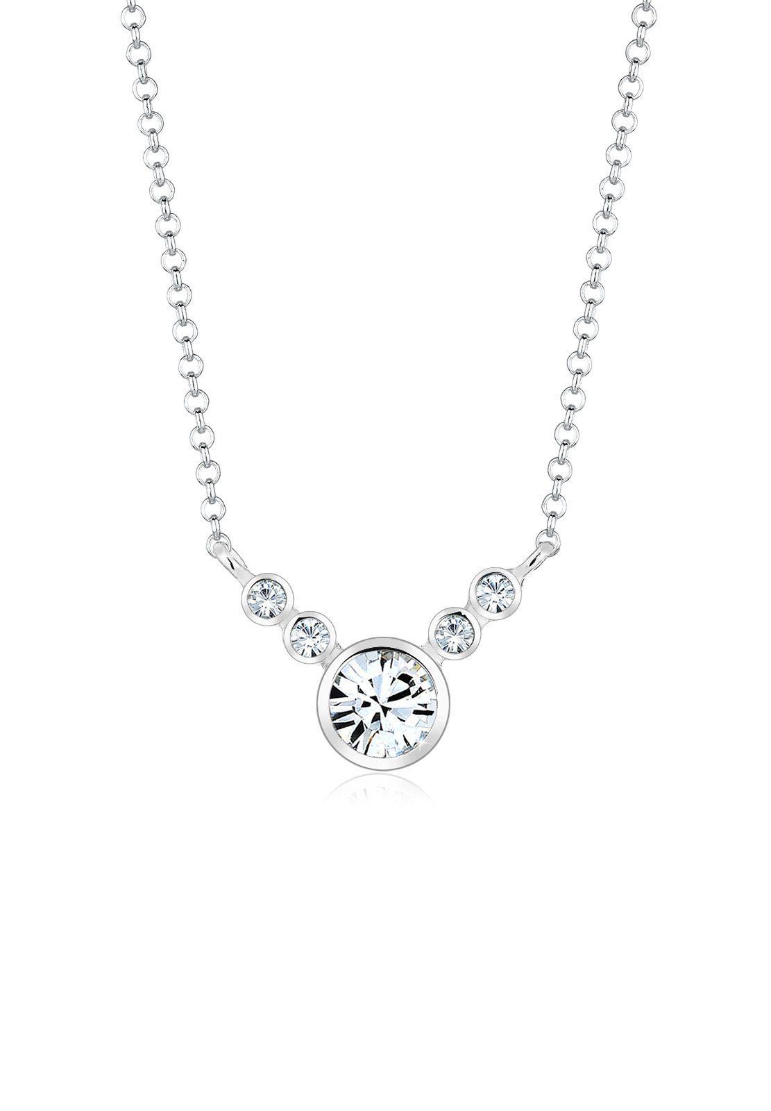 Elli Collierkettchen »Collier Swarovski® Kristalle 925 Sterling Silber«
