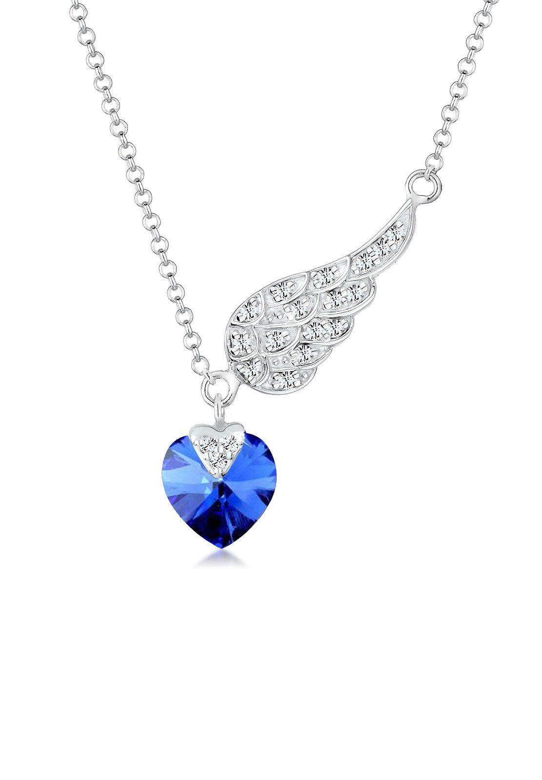 Elli Collierkettchen »Herz Flügel Swarovski® Kristalle 925 Silber« online kaufen | OTTO
