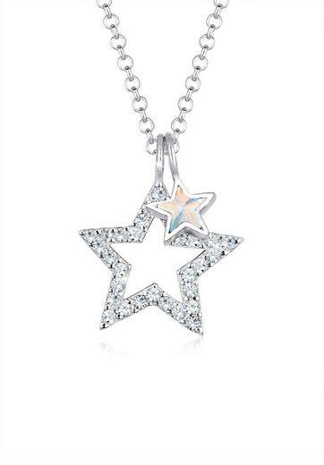 Elli Collierkettchen »Sterne Swarovski® Kristalle 925 Sterling Silber«