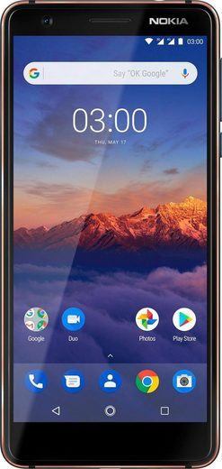 Nokia 3.1 (2018) Smartphone (13,2 cm/5,2 Zoll, 16 GB Speicherplatz, 13 MP Kamera)