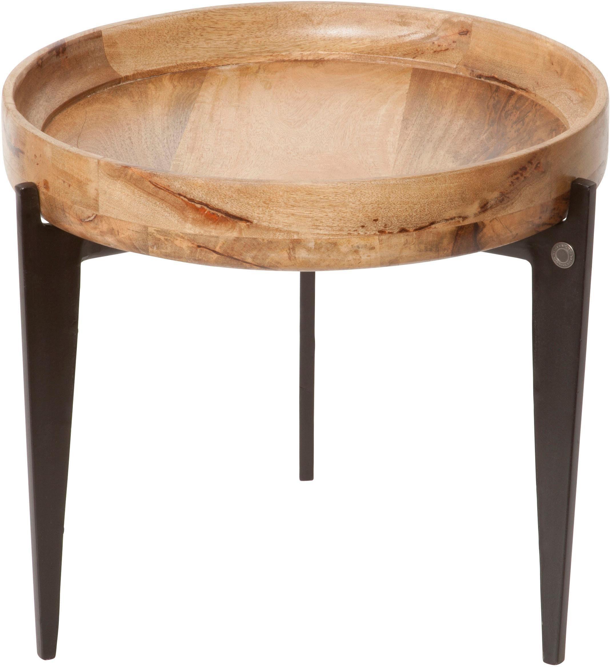TOM TAILOR Beistelltisch »T-TRAY TABLE SMALL« mit Tablett, rund, ø 46 cm