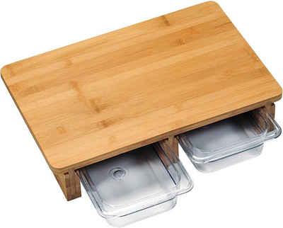 KESPER for kitchen & home Schneidebrett, Bambus, Auffangschale