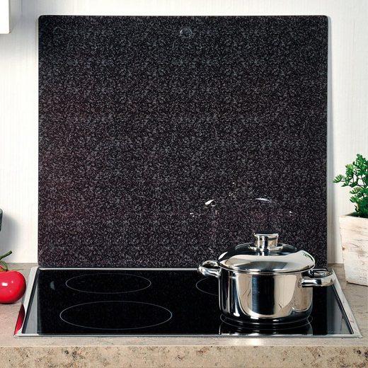 KESPER for kitchen & home Schneide- und Abdeckplatte »Granit«, ESG-Sicherheitsglas, (1 tlg), praktisch unzerbrechlich mit Schiefer-Dekor