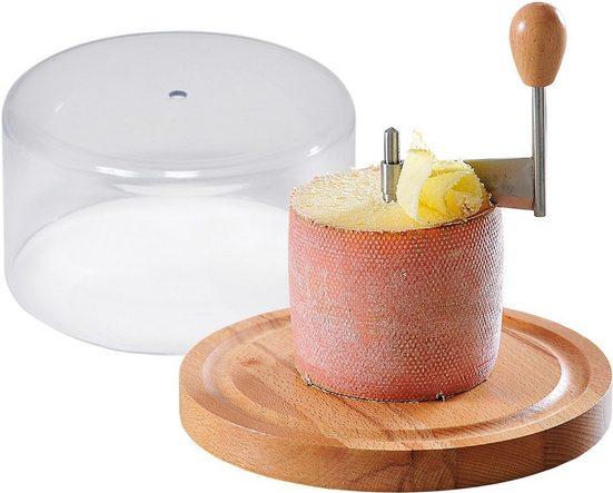 KESPER for kitchen & home Käsebrett, Bambus, Edelstahl, Kunststoff, mit Haube