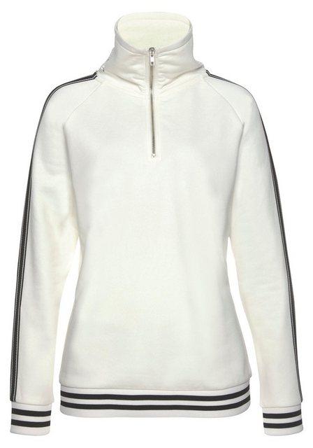 Damen Bench. Sweatshirt in lässiger Troyerform  | 04260406772147