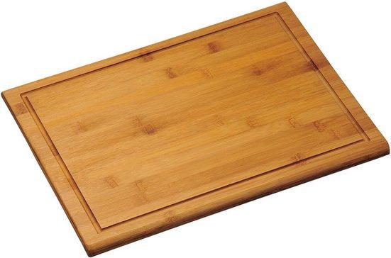 KESPER for kitchen & home Tranchierbrett, Bambus, Gr. 44 x 32 cm