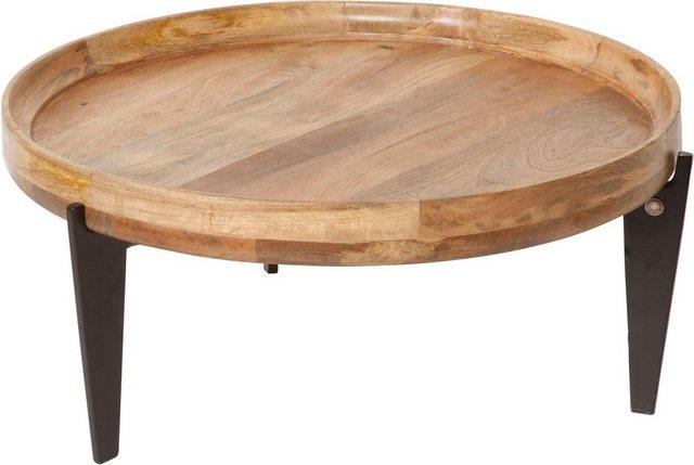 Wohnzimmertische - TOM TAILOR Couchtisch »T TRAY TABLE LARGE«, mit Tablett, rund, ø 75 cm  - Onlineshop OTTO
