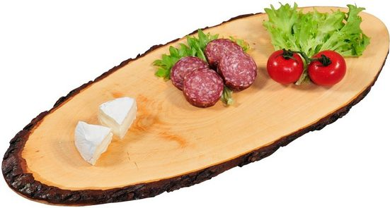 KESPER for kitchen & home Servierbrett, Holz, aus einer Baumscheibe gefertigt
