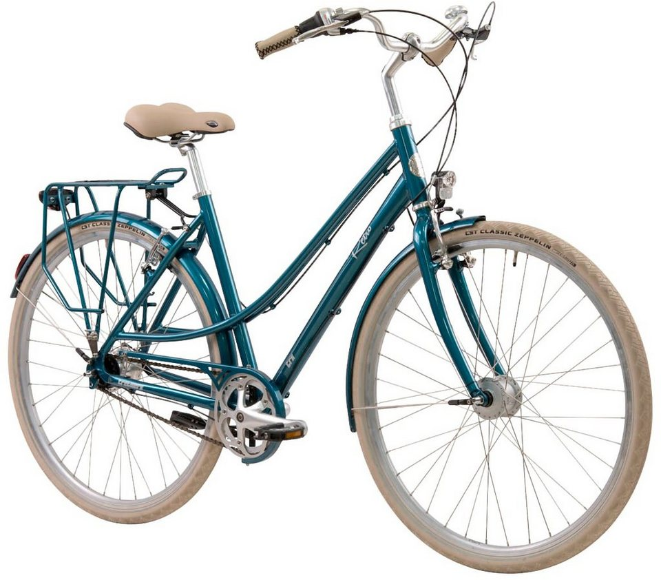 tretwerk citybike damen retro 28 zoll 7 gang v brake. Black Bedroom Furniture Sets. Home Design Ideas