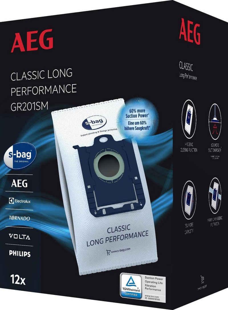 AEG Staubsaugerbeutel GR201SM, passend für AEG, 3 Liter Füllmenge