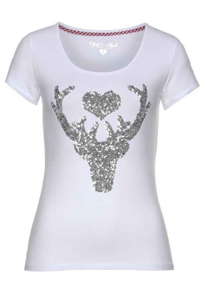 HaILY'S T-Shirt »LISSY« mit Pailletten