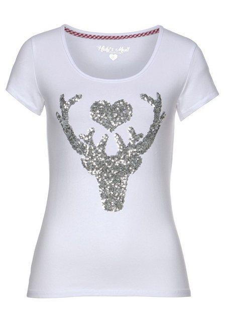 Damen HaILY'S T-Shirt LISSY mit Pailletten weiß   04060589233622