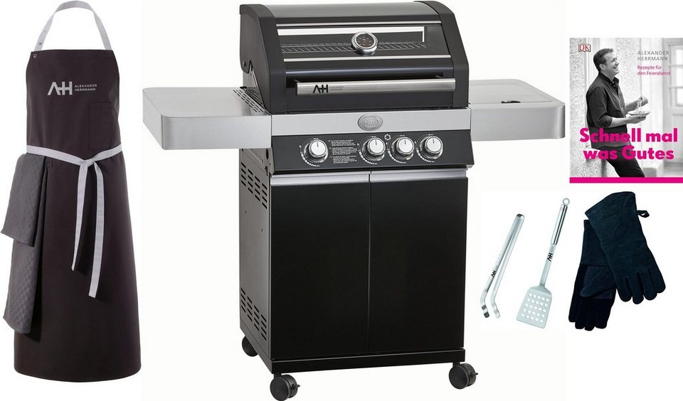 Enders Gasgrill Boston Black 4 Ik Test : Alexander herrmann gasgrill incl. grill set 3 tlg. kochschürze