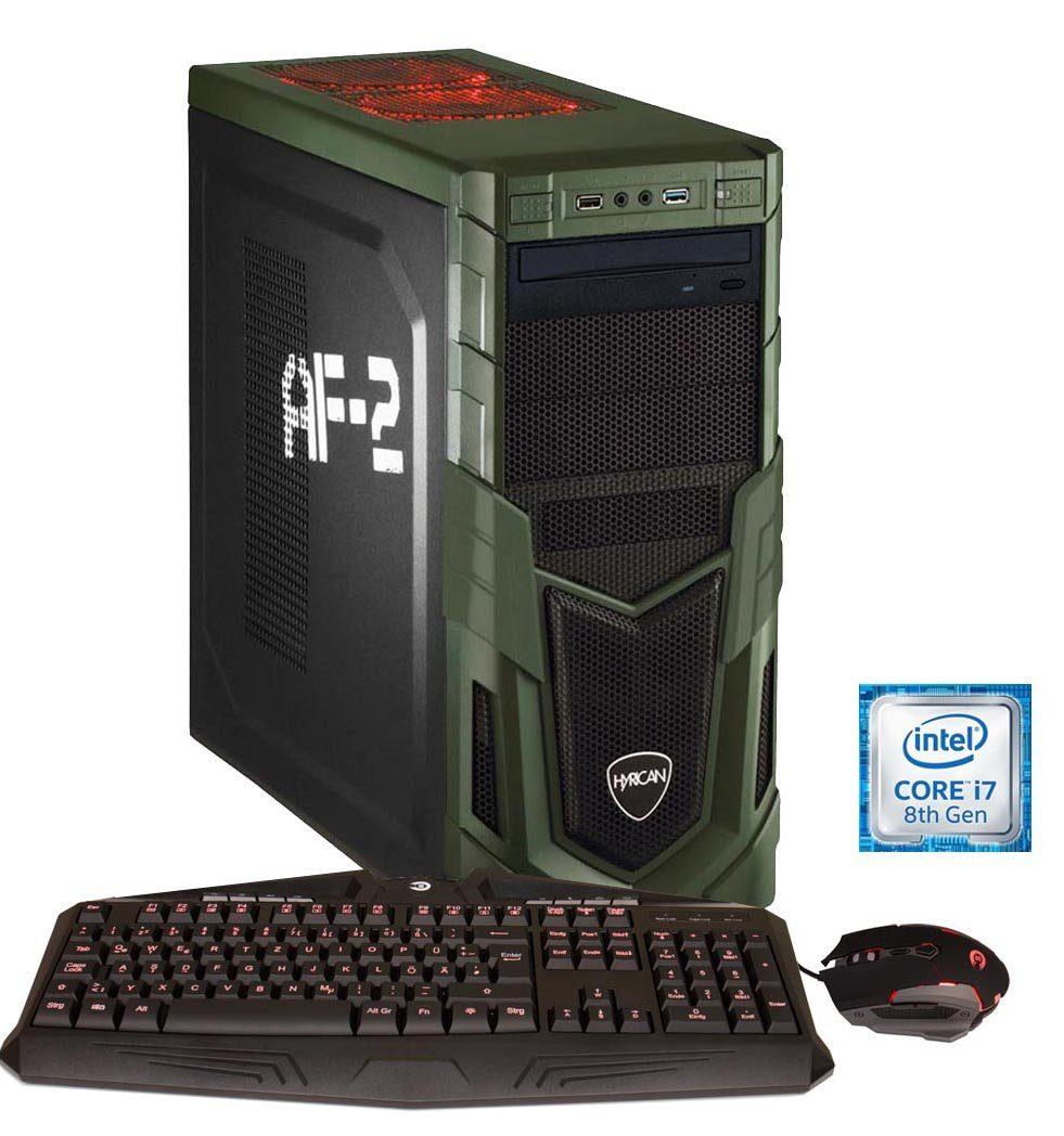 HYRICAN Gaming PC Intel® i7-8700 16GB SSD + HDD GeForce® GTX 1070Ti »Military-X Gaming 6007«