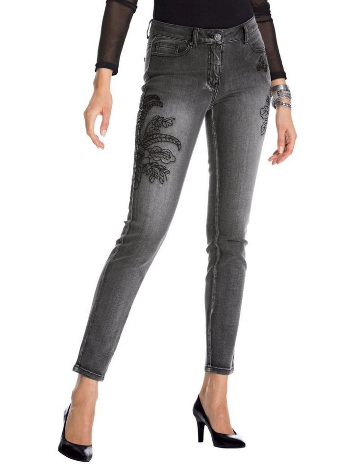 Amy Vermont Jeans mit femininen Stickereien kaufen   OTTO d8137ae114