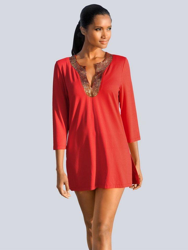 Damen Alba Moda  Tunika im Tunika-Style rot | 04055717184785