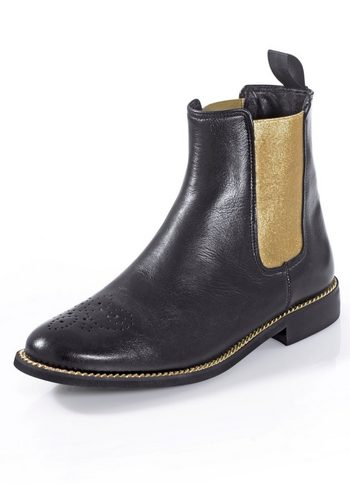 Damen Alba Moda Boot in Chelsea Form schwarz | 04055717220254