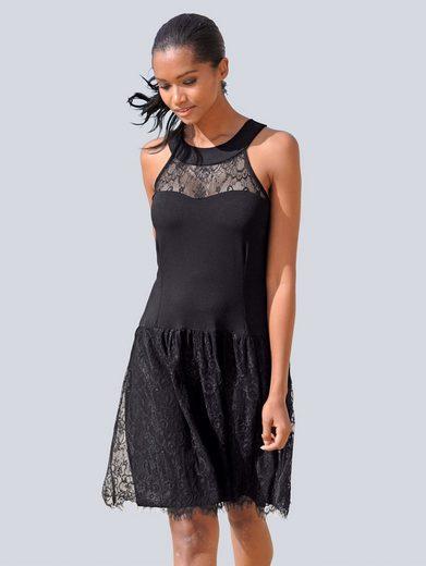 Alba Moda Kleid mit amerikanischem Ausschnitt
