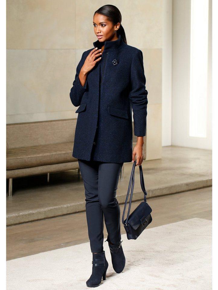 Alba Moda Longjacke aus Woll-Qualität