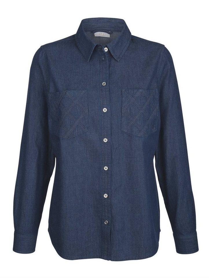 Damen Paola Jeansbluse in moderner Waschung blau | 04055716587778