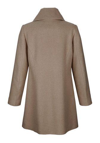 PAOLA Vilnonis paltas su apykaklė