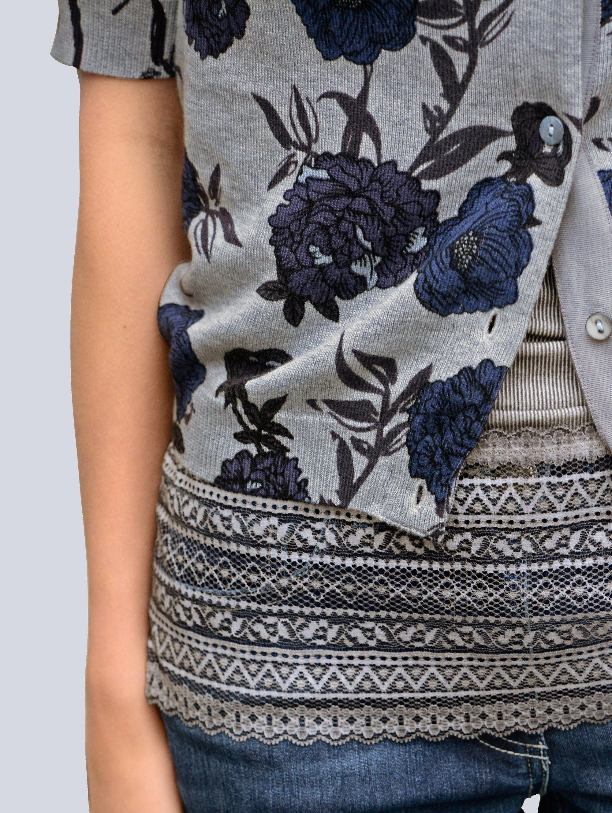 Exclusivem Allover Moda Online Kaufen Alba Strickjacke Blumendruck Mit bDEHI29YeW