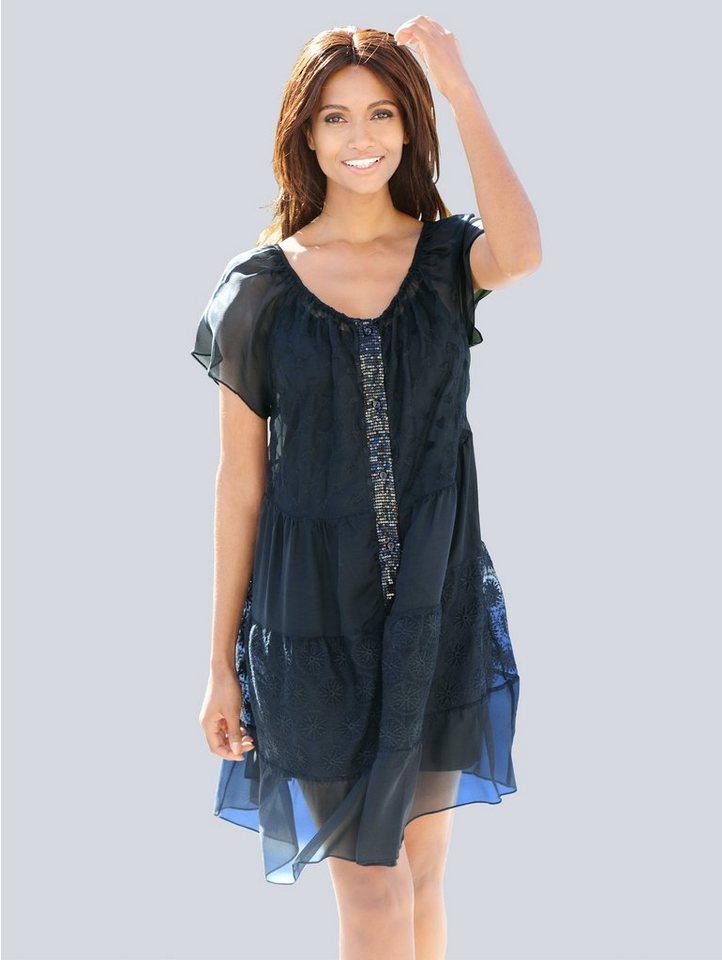 Alba Moda Kleid mit Seidenanteil, In Stufen, mit ...