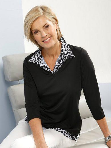 Paola Shirt mit bedrucktem Bluseneinsatz