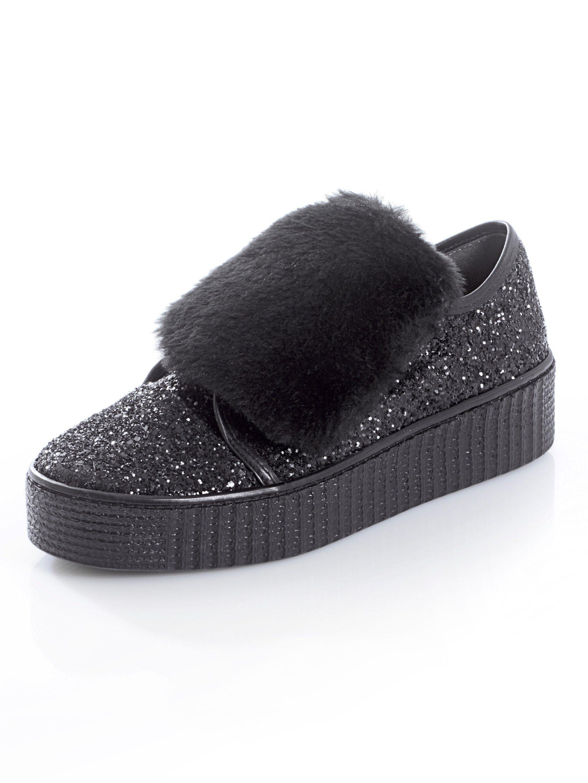 Alba Moda Slipper mit dicker makanter Sohle kaufen  schwarz