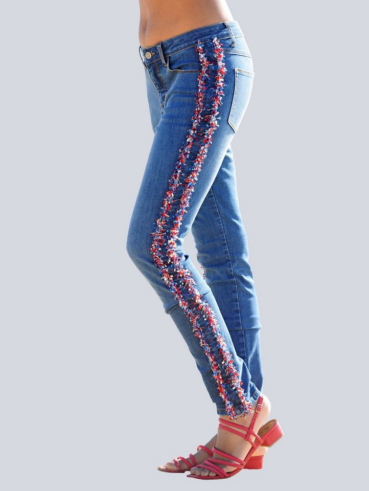 alba moda jeans mit galonstreifen online kaufen otto. Black Bedroom Furniture Sets. Home Design Ideas