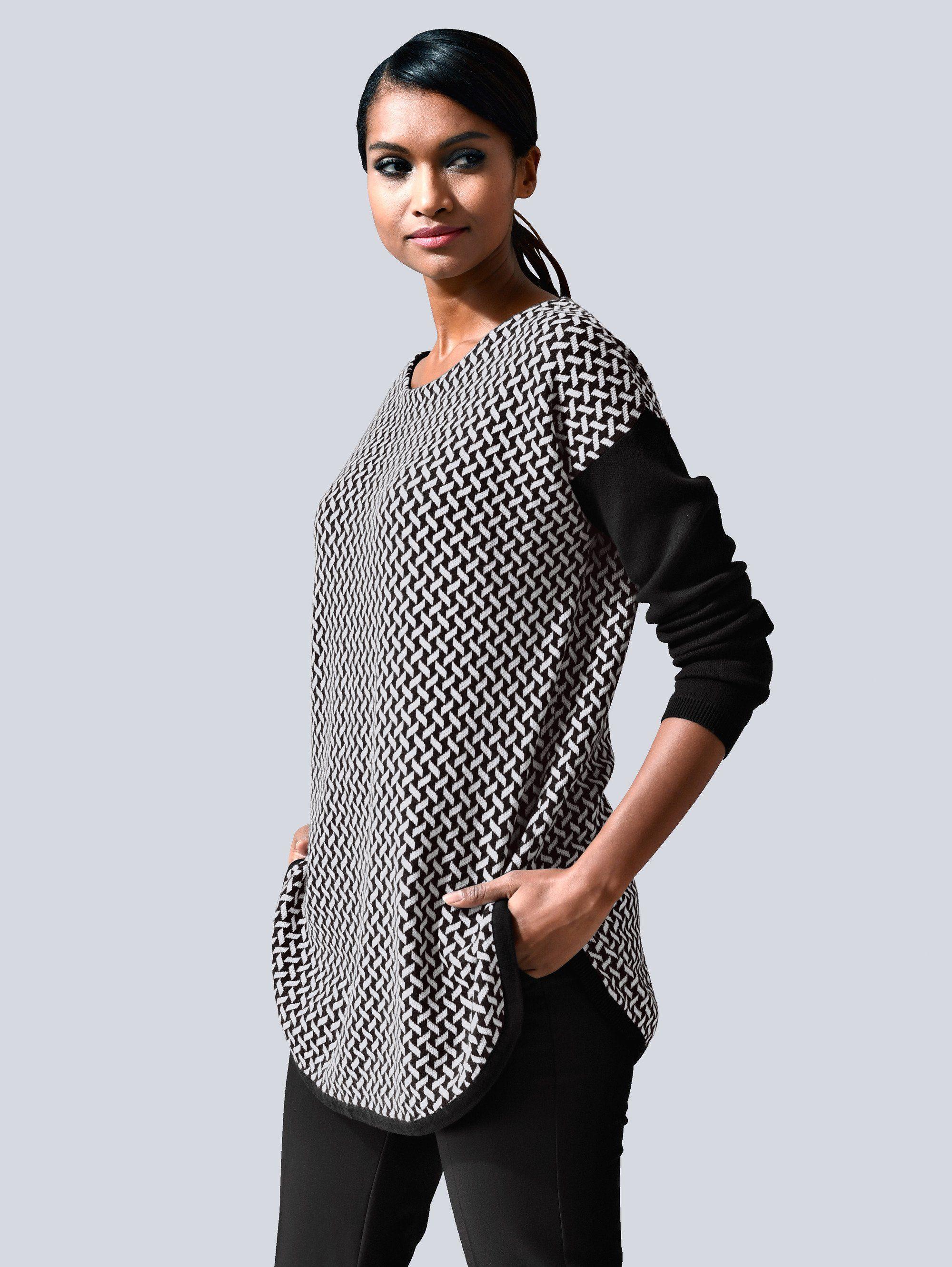 Alba Moda Pullover mit grafischem Muster