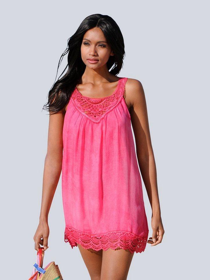 Damen Alba Moda  Top mit Seidenanteil rosa | 04055717183436