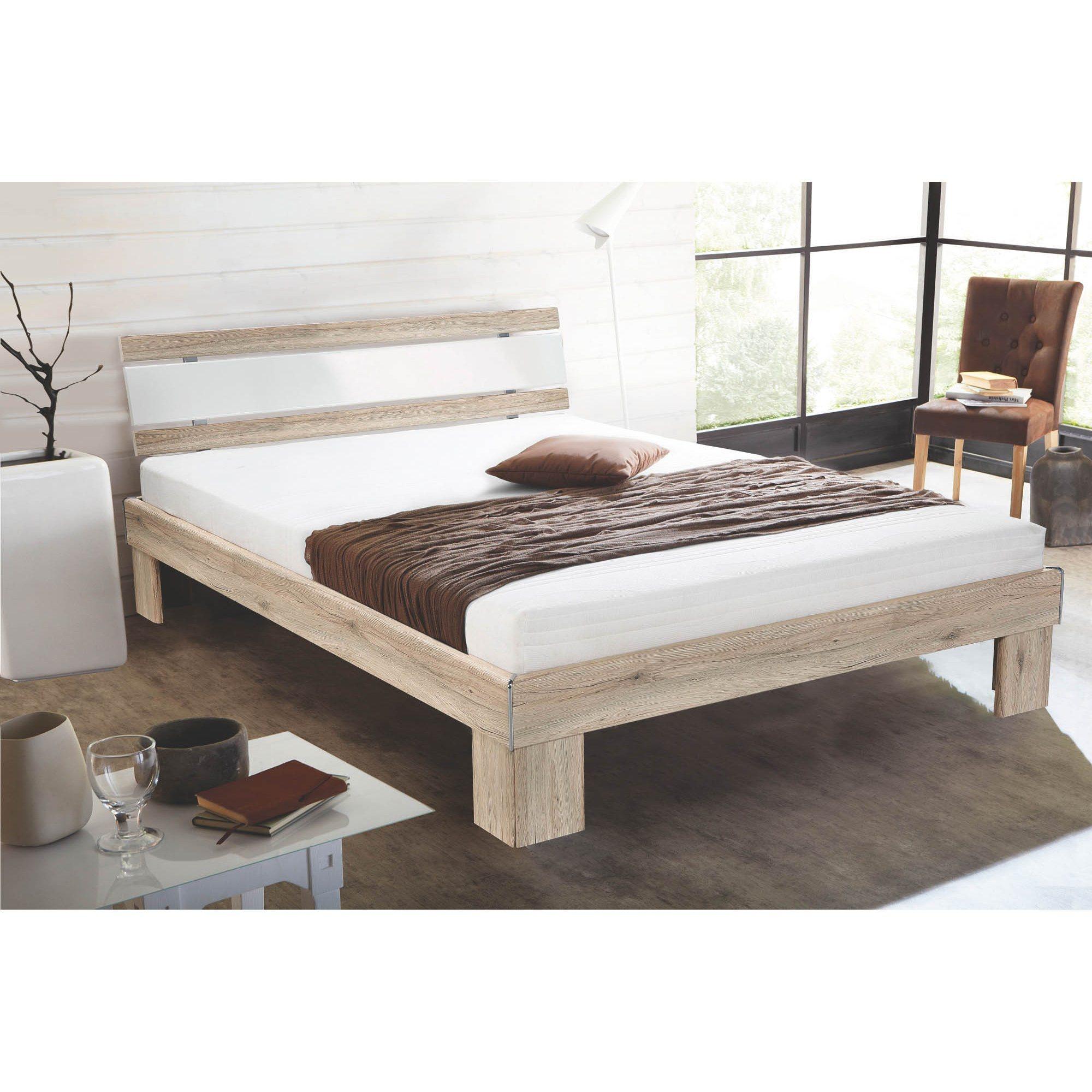 HTI-Living Futonbett mit Kaltschaummatratze »Rhone« | Schlafzimmer > Betten > Futonbetten | Hochglanz - Weiß | Hochglanz - Baumwolle | HTI-Living