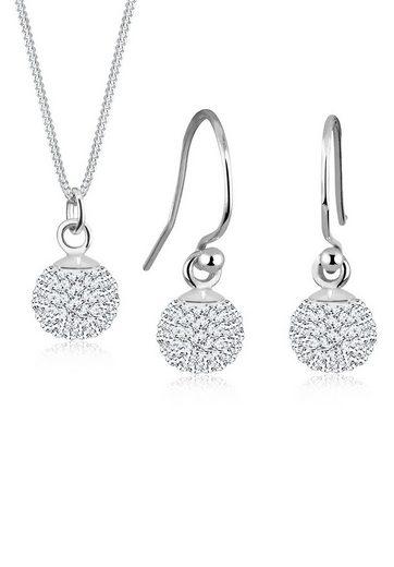 Elli Schmuckset »Kugel Swarovski® Kristalle 925 Sterling Silber«