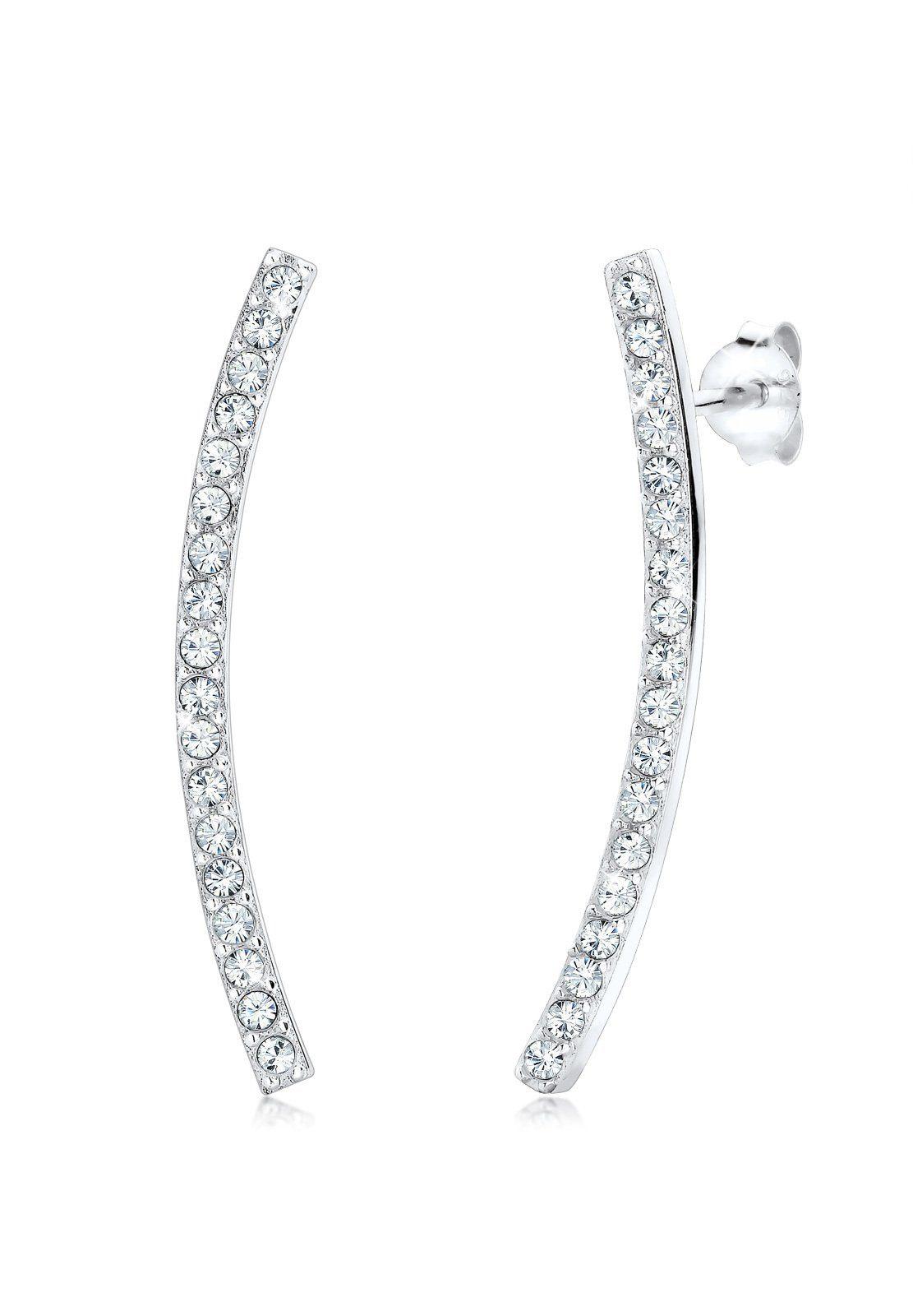 Elli Paar Ohrstecker »Tropfen Geo Trend Swarovski® Kristalle 925 Sterling Silber«