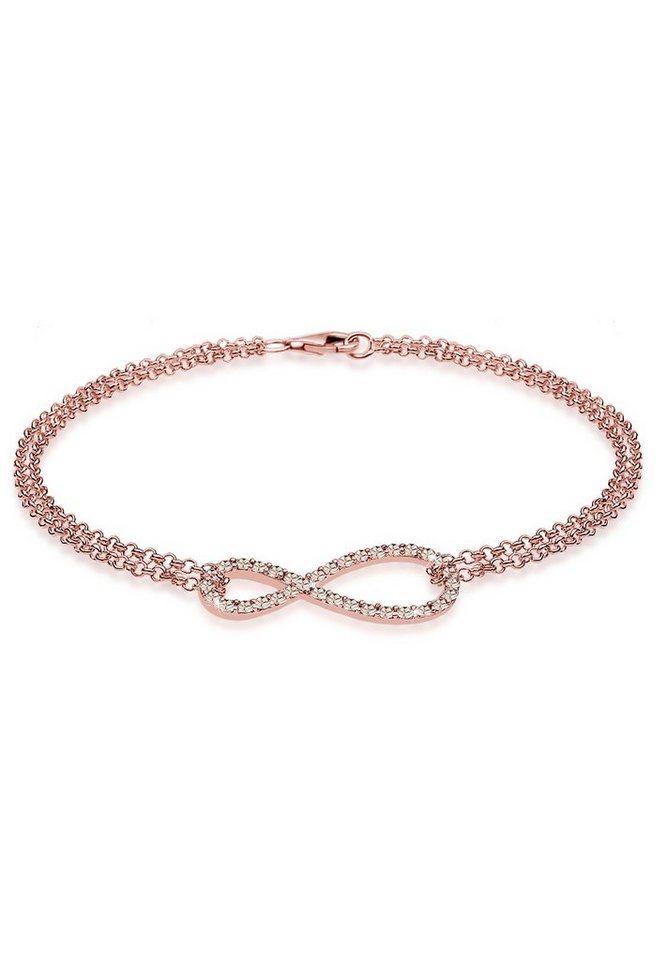Elli Armband »Infinity Swarovski® Kristalle 925 Silber« | Schmuck > Armbänder > Silberarmbänder | Elli