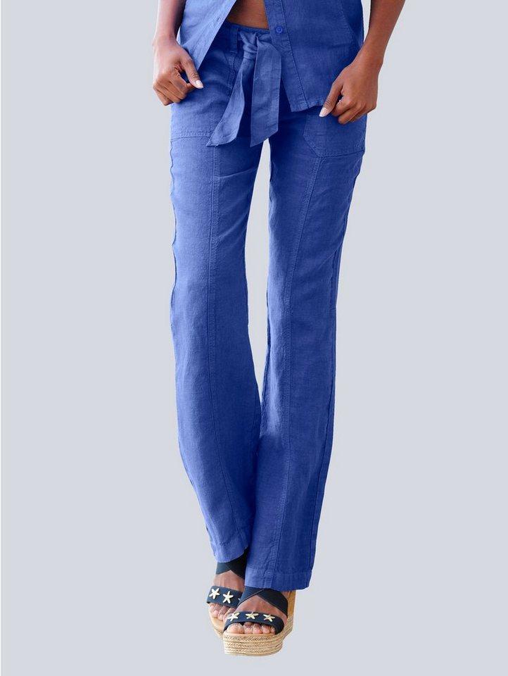 Alba Moda Hose aus reinem Leinen online kaufen   OTTO c3a0f1e715