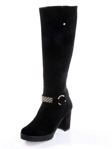 Alba Moda Stiefel mit Schmuckband und Zierbändern