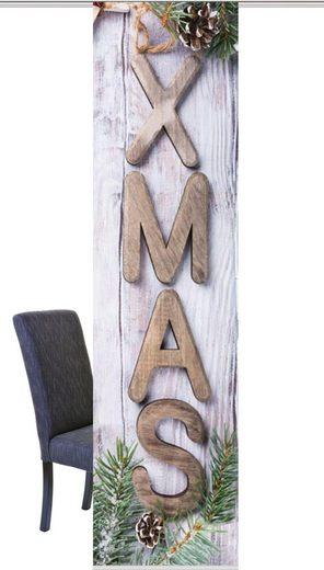 Schiebegardine »XMAS«, HOME WOHNIDEEN, Paneelwagen (1 Stück), HxB: 245x60, Schiebevorhang Digitaldruck