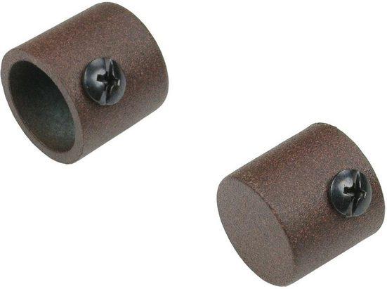 Gardinenstangen-Endstück »Endkappe«, Liedeco, Gardinen, (Set, 2-St), für Gardinenstangen Ø 16 mm